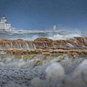 West Pierhead In Ice Art Print