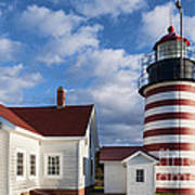West Quoddy Head Lighthouse Art Print