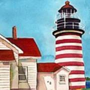 West Quoddy Light House Art Print