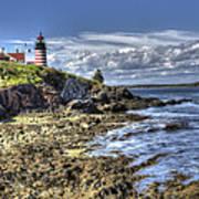 West Quoddy Lubec Maine Lighthouse Art Print