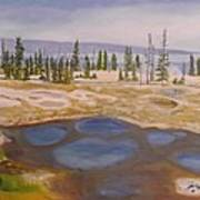 West Thumb Geyser Basin Yellowstone Art Print