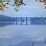 West Trenton Railroad Bridge Art Print by Bill Cannon
