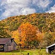 West Virginia Barns  Art Print