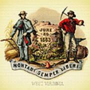 West Virginia Coat Of Arms - 1876 Art Print
