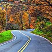West Virginia Curves 2 Art Print