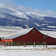 Westcliffe Landmark - The Red Barn Art Print