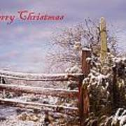 Western Christmas Art Print