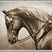Western Horse Old Photo Fx Print by Crista Forest
