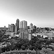Western View Of Austin Skyline Art Print
