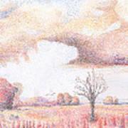 Western Vista - Rain Art Print by William Killen