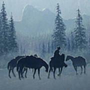 Western Winter Art Print by Randy Follis
