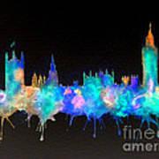 Westminster And Big Ben - Nighttime 1 Art Print