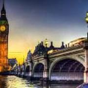 Westminster Bridge And Big Ben Art Print