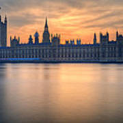 Westminster Nights Art Print