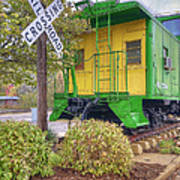 Weston Railroad Crossing Art Print