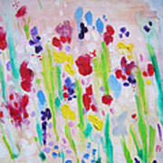 Wet Flowers Art Print