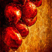 Wet Grapes Three Art Print