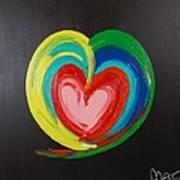 Wet Heart Art Print