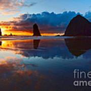 Wet Paint - Sunset In Oregon Art Print