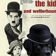Wetterhoun-frisian Water Dog Art Canvas Print - The Kid Movie Poster Art Print