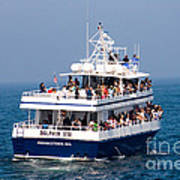 Whale Watching Boat Art Print