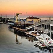 Wharf #2 In Monterey At Sunset Art Print