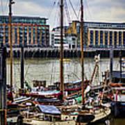 Wharf Ships Art Print
