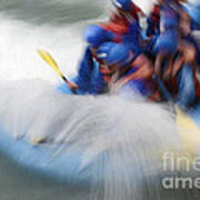 White Water Rafting What A Rush Art Print