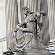 What Is Past Is Prologue Statue At National Archives -- 2 Art Print