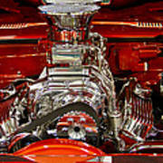 What Is Under The Hood-red Customized Retro Pontiac Art Print