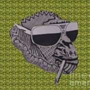 Whatssup Dawg Green Art Print