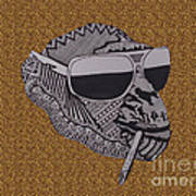 Whatssup Dawg  Leopard Art Print