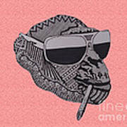 Whatssup Dawg Pink Art Print
