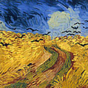 Wheat Field With Crows Art Print