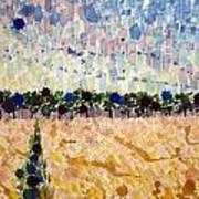 Wheatfields At Dusk Art Print