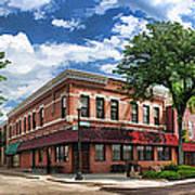 Wheaton Front Street Panorama Art Print