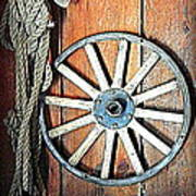 Wheel An Rope Art Print