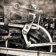 Wheel And Steam Art Print