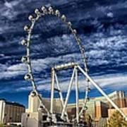 Wheel In The Sky Las Vegas Art Print