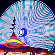 Wheel Of Light Work B Art Print