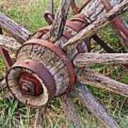 Wheel Of Old Art Print by Marty Koch