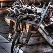 Wheelbarrow At Shipyard Art Print