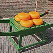 Wheels Of Dutch Gouda Cheese Art Print by Artur Bogacki