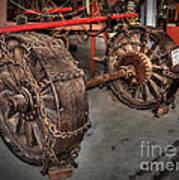 Wheels Of Old Steam Wagon Art Print