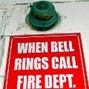 When Bell Rings Art Print