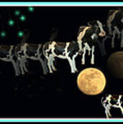 When Cows Jump Over The Moon Art Print