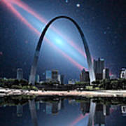 When The Galaxy Came To St. Louis Art Print
