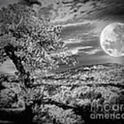 When The Moon Comes Over Da Mountain Art Print
