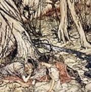 Where Often You And I Upon Fain Primrose Beds Were Wont To Lie Art Print by Arthur Rackham
