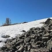 Where Snow Meets Rock Art Print